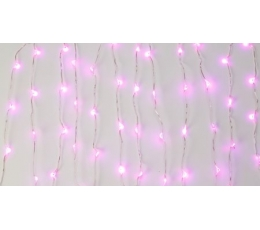 Švieselių LED girlianda stalui, rausva (3 m)