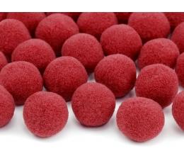Pliušiniai burbuliukai-dekoracijos, raudoni (2 cm/20 vnt.)