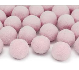 Pliušiniai burbuliukai-dekoracijos, rausvi (2 cm/20 vnt.)
