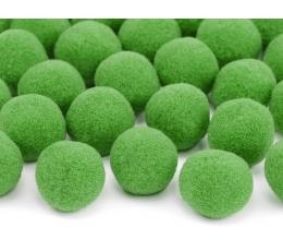 Pliušiniai burbuliukai-dekoracijos, žali (2 cm/20 vnt.)