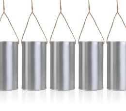 Dekoratyvinės skardinės, sidabrinės (5 vnt.) 1