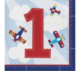 """Servetėlės """"Lėktuvėliai.1-asis gimtadienis"""" (16 vnt.)"""