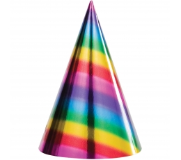 Kepuraitės, blizgios vaivorykštės spalvų (8 vnt.)