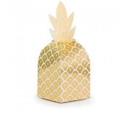 """Lauktuvių dėžutės """"Ananasas"""", blizgios (8 vnt.)"""