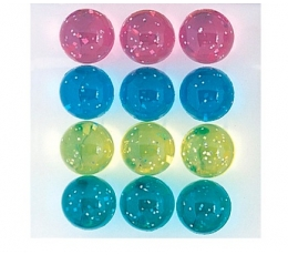 Guminiai kamuoliukai, spalvoti (12 vnt./35 mm)