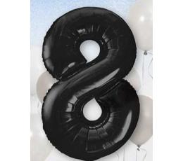 """Folinis balionas """"8"""", juodas (85 cm)"""
