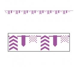 Girlianda, taškuotai dryžuota violetinė (3,3 m)