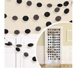 Kabančios dekoracijos, blizgios juodos (6 vnt./2,13 m)