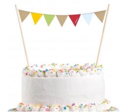 """Torto dekoracija-girlianda """"Miško spalvos"""