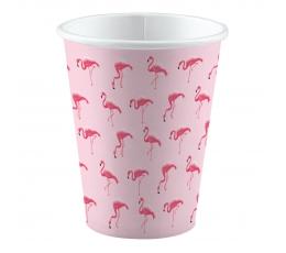"""Puodeliai """"Rožiniai flamingai"""" (8 vnt./250 ml)"""