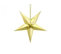 Kabanti dekoracija-žvaigždė, auksinė blizgi (45 cm)