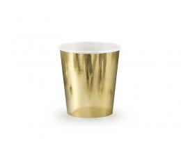 Puodeliai, auksiniai blizgūs (6 vnt./180 ml)