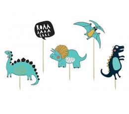 """Smeigtukai-dekoracijos """"Pikti dinozaurai"""" (5 vnt.)"""