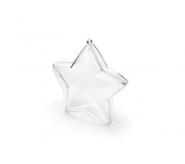Dėžutės-žvaigždės, skaidrios (3 vnt./10 cm)