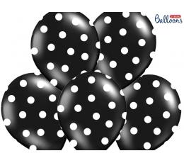 Balionas, taškuotai juodas (30 cm)