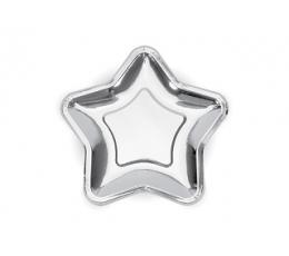 """Lėkštutės """"Sidabro žvaigždė"""", forminės (6 vnt./18 cm)"""