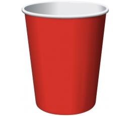 Puodeliai, raudoni (8 vnt./266 ml)
