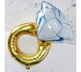 """Folinis balionas """"Vestuvių žiedas"""" (50x80 cm)"""