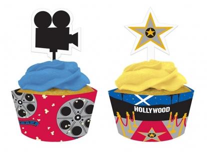 """Keksiukų dekoracijos """"Holivudas"""" (12 vnt.)"""