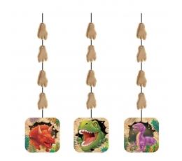 "Kabančios dekoracijos ""Dinozauras Dinas"" (3 vnt.)"