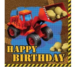 """Servetėlės """"Mažasis statybininkas. Su gimtadieniu"""" (16 vnt.)"""