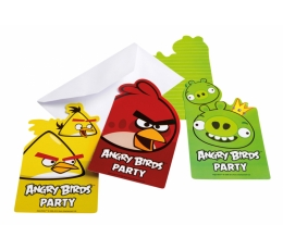 "Kvietimai ""Angry Birds"" (6 vnt.)"