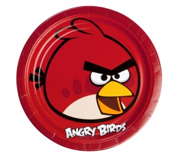 "Lėkštutės ""Angry Birds"" (8 vnt./23 cm)"