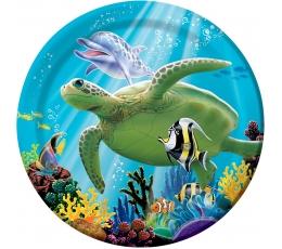 """Lėkštutės """"Vandenyno paslaptys"""" (8 vnt./18 cm)"""