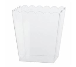 Plastikinė dėžutė užkandžiams, skaidri (14x11x15 cm)