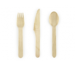 Stalo įrankių rinkinys, medinis (6-iems asmenims)