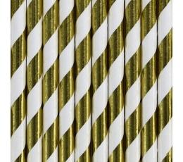Šiaudeliai, auksiniai plačiai dryžuoti (10 vnt.)