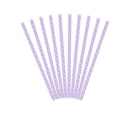Šiaudeliai, violetiniai smulkiai taškuoti (10 vnt.)