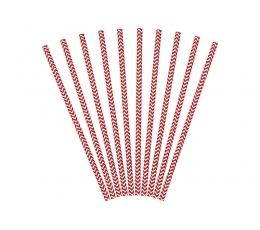 Šiaudeliai, raudoni zigzagai (10 vnt.)