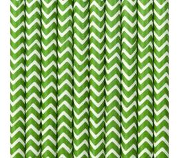 Šiaudeliai, žali zigzagai (10 vnt.)