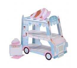 """Saldumynų stovas su indeliais """"Ledų vežimėlis"""""""