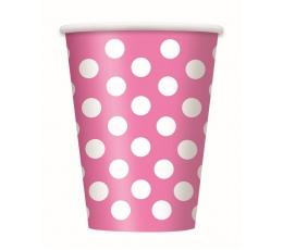 Puodeliai, taškuotai rožiniai (6 vnt./355 ml)