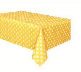 Staltiesė, taškuotai geltona (137x274 cm)