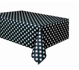 Staltiesė, taškuotai juoda (137x274 cm)