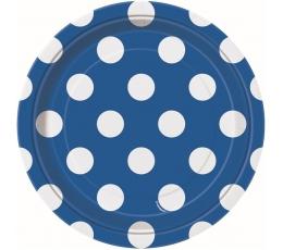 Lėkštutės, taškuotai mėlynos (8 vnt./18 cm)