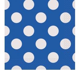 Servetėlės, taškuotai mėlynos (16 vnt./33x33 cm)
