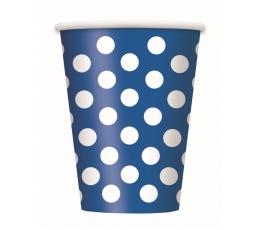 Puodeliai, taškuotai mėlyni (6 vnt./355 ml)