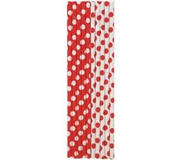 Šiaudeliai, taškuotai raudoni (10 vnt.)