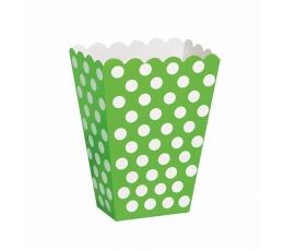 Dėžutės užkandžiams, taškuotai salotinės (8 vnt.)