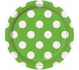 Lėkštutės, taškuotai salotinės (8 vnt./18 cm)