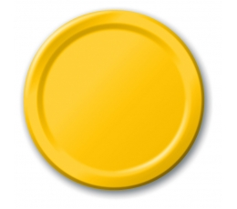 Lėkštutės, geltonos (8 vnt./17 cm)