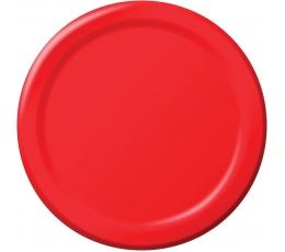 Lėkštutės, raudonos (8 vnt./22 cm)
