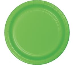 Lėkštutės, ryškiai salotinės (8 vnt./22 cm)