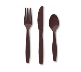 Stalo įrankių rinkinys, rudas (8-iems asmenims)