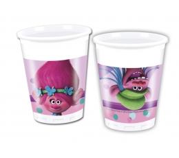 """Plastikiniai puodeliai """"Troliai"""" (8 vnt./200 ml)"""