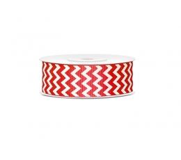 Dekoratyvinė juostelė, raudoni zigzagai (10 m)